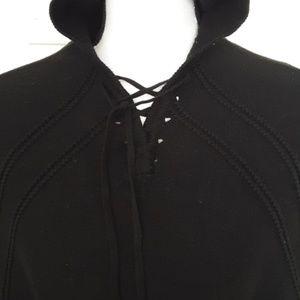 Mademoiselle shrug cape poncho hooded sz 6